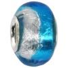 IMPPAC Glas  Bead Spacer Blau European Beads  925er Silber IMPPAC Silberbeads SMB8096