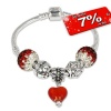 IMPPAC Glitzer Armband + 5 Beads European Bead  925er Silber IMPPAC Silberbeads SMW062
