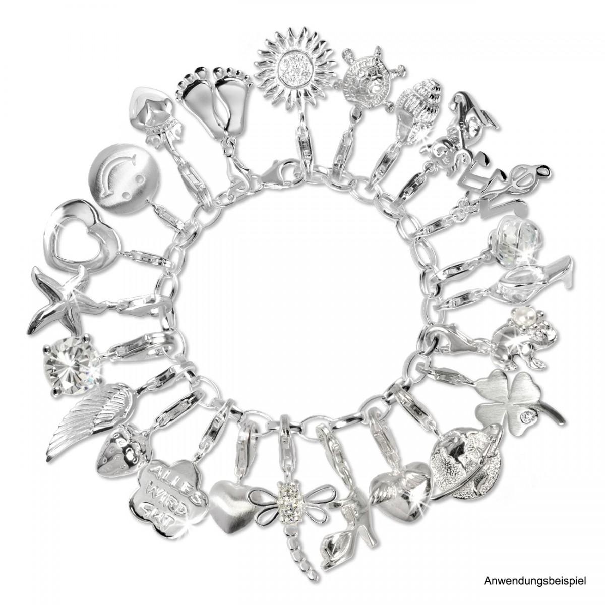 Armband anhänger  SilberDream Silber Charm 925 Kleeblatt Armband Anhänger FC502
