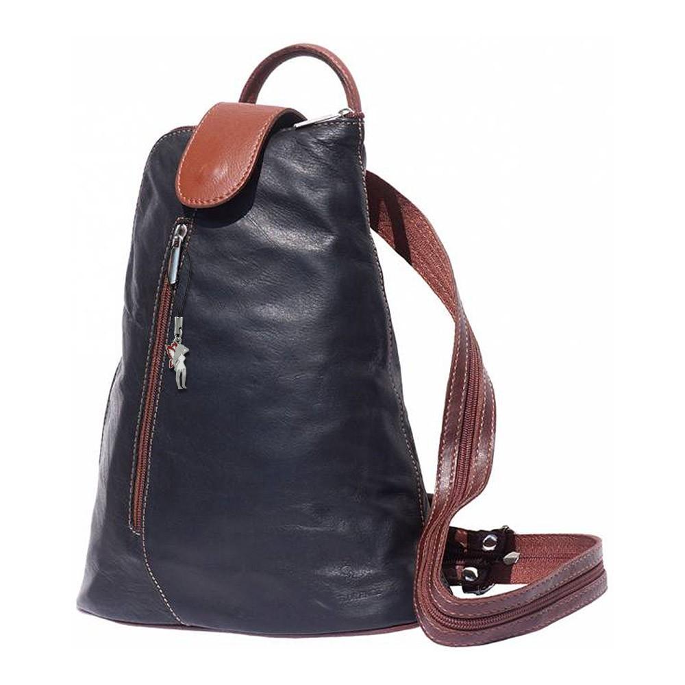 rucksack damen handtasche leder schwarz rucksacktasche drachenleder otf601s. Black Bedroom Furniture Sets. Home Design Ideas