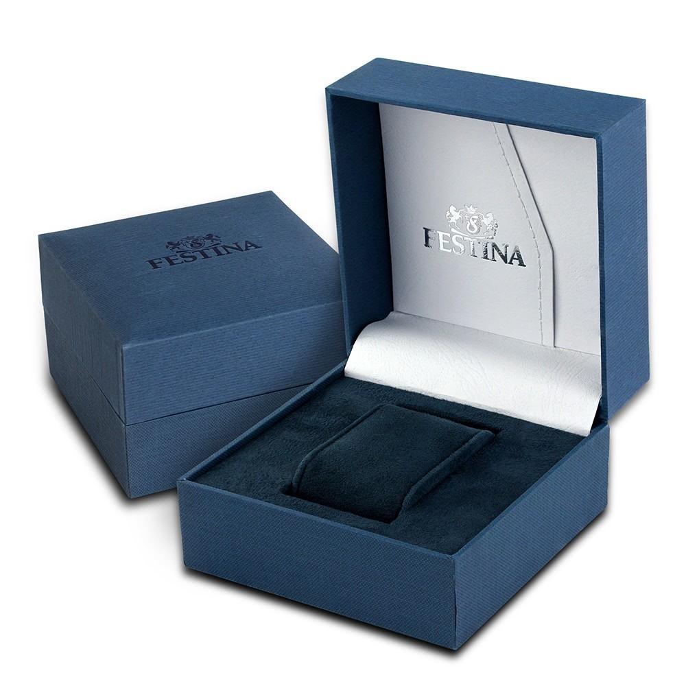 Leder F169752 Uf169752 Armbanduhr Blau Automatik Herren Festina rBQdCxWeo