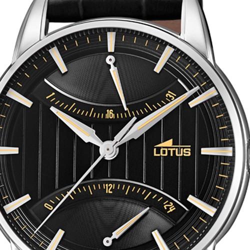 Schwarz Herren 184294 Ul184294 Quarz Retro Lotus Leder Armbanduhr CQthdsr