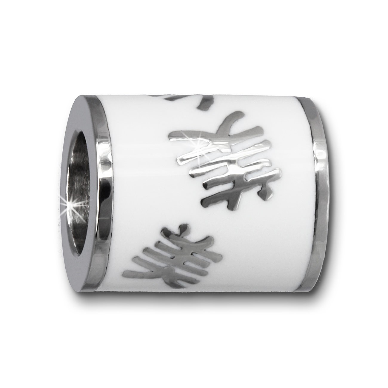 Amello Megabeads Stahl Bead chinesisch Schönheit Armbandbead AMB231W