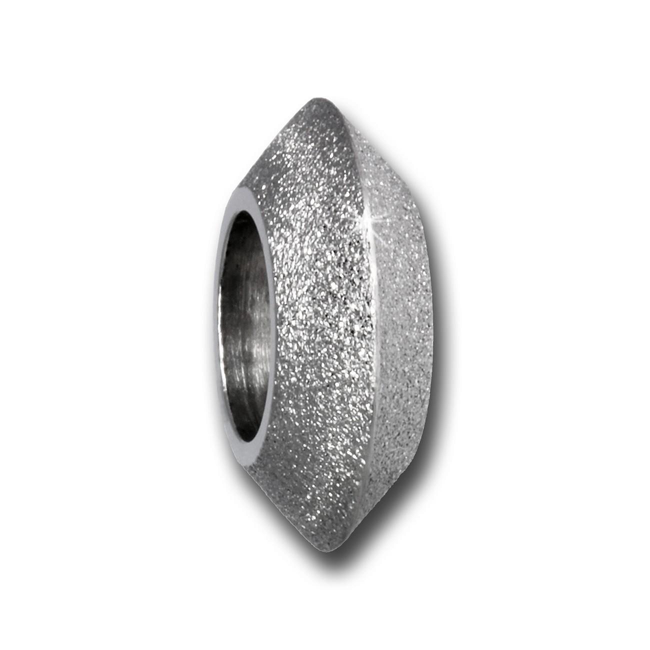 Amello Megabeads Stahl Bead Kreisel diamantiert Armbandbead AMB410W