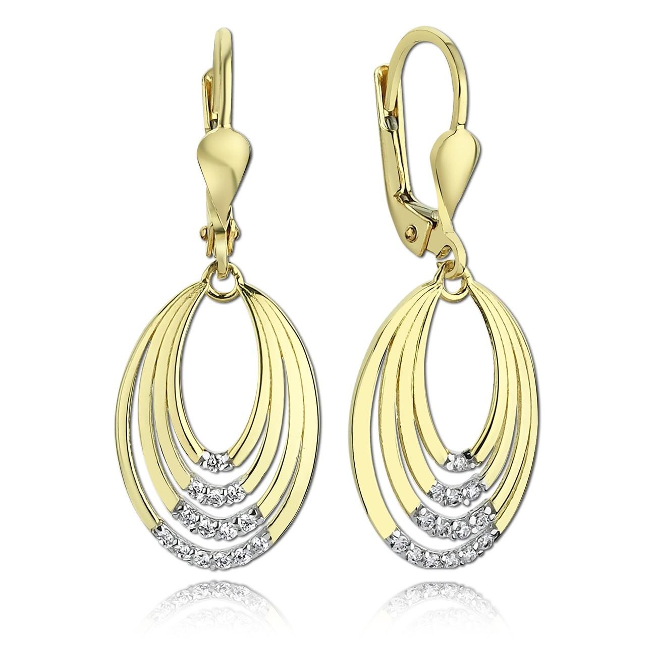 Balia Damen Ohrhänger aus 333 Gelbgold mit Zirkonia BGO0013GW