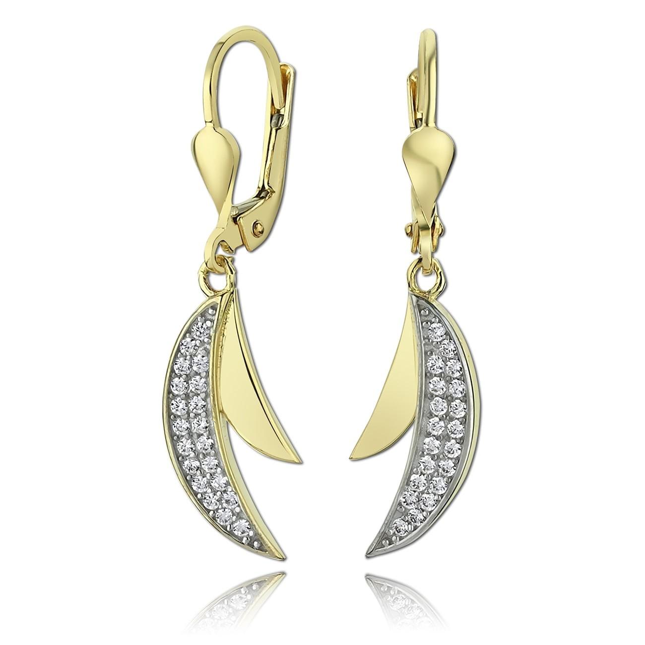 Balia Damen Ohrhänger aus 333 Gelbgold mit Zirkonia BGO0014GW