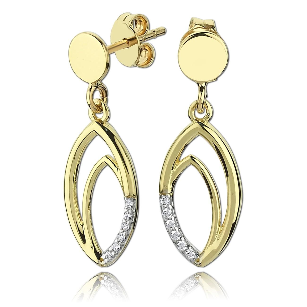 Balia Damen Ohrhänger aus 333 Gelbgold mit Zirkonia BGO0027GW