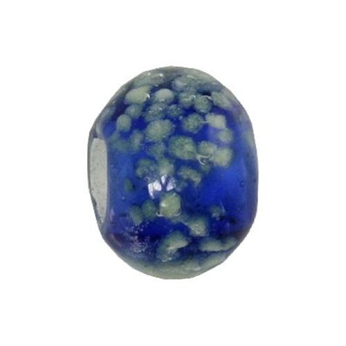 Carlo Biagi Glas Bead blau Leuchtet im Dunkeln BBGG04BL