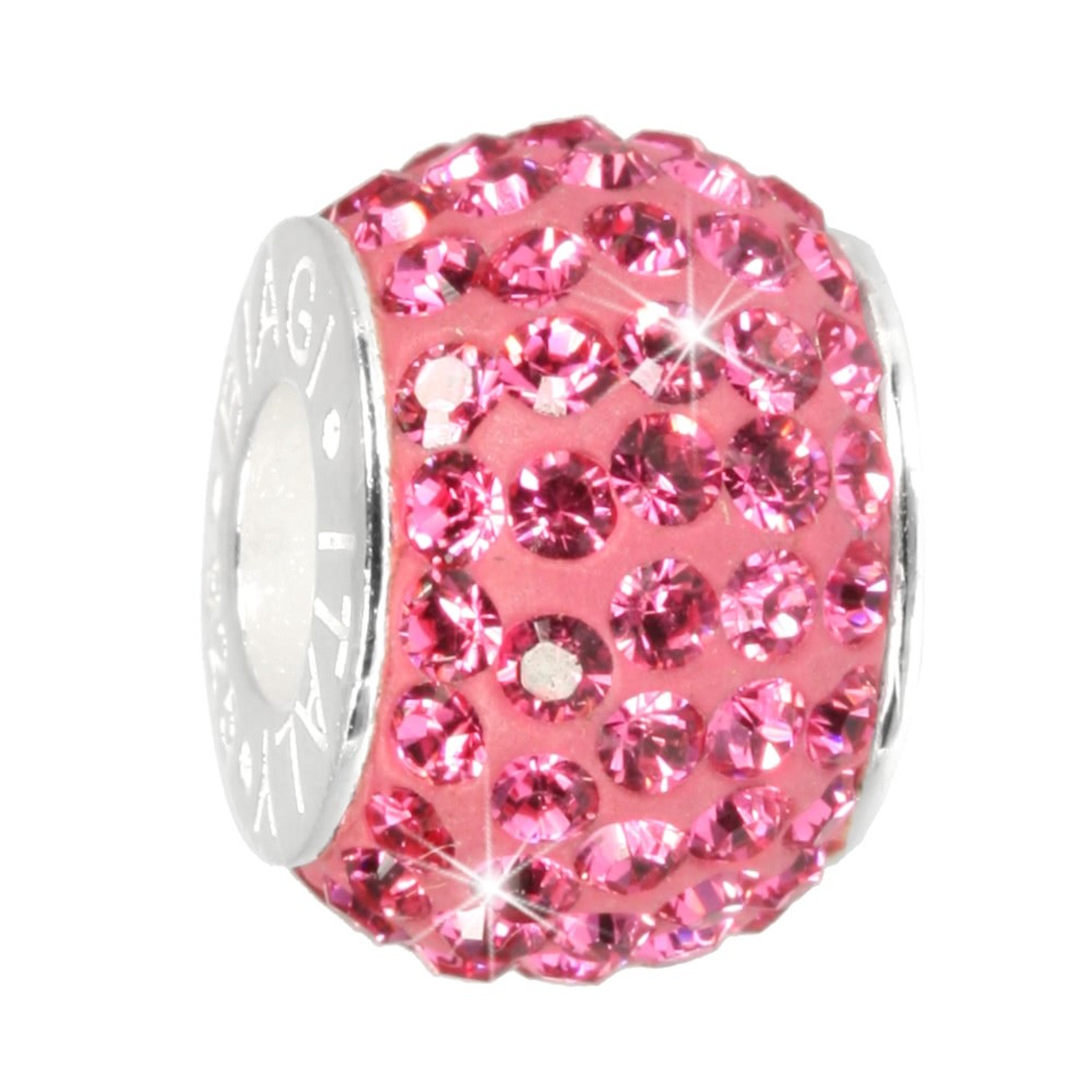 Carlo Biagi Swarovski Elements Bead Ring rosa BBSCR01P