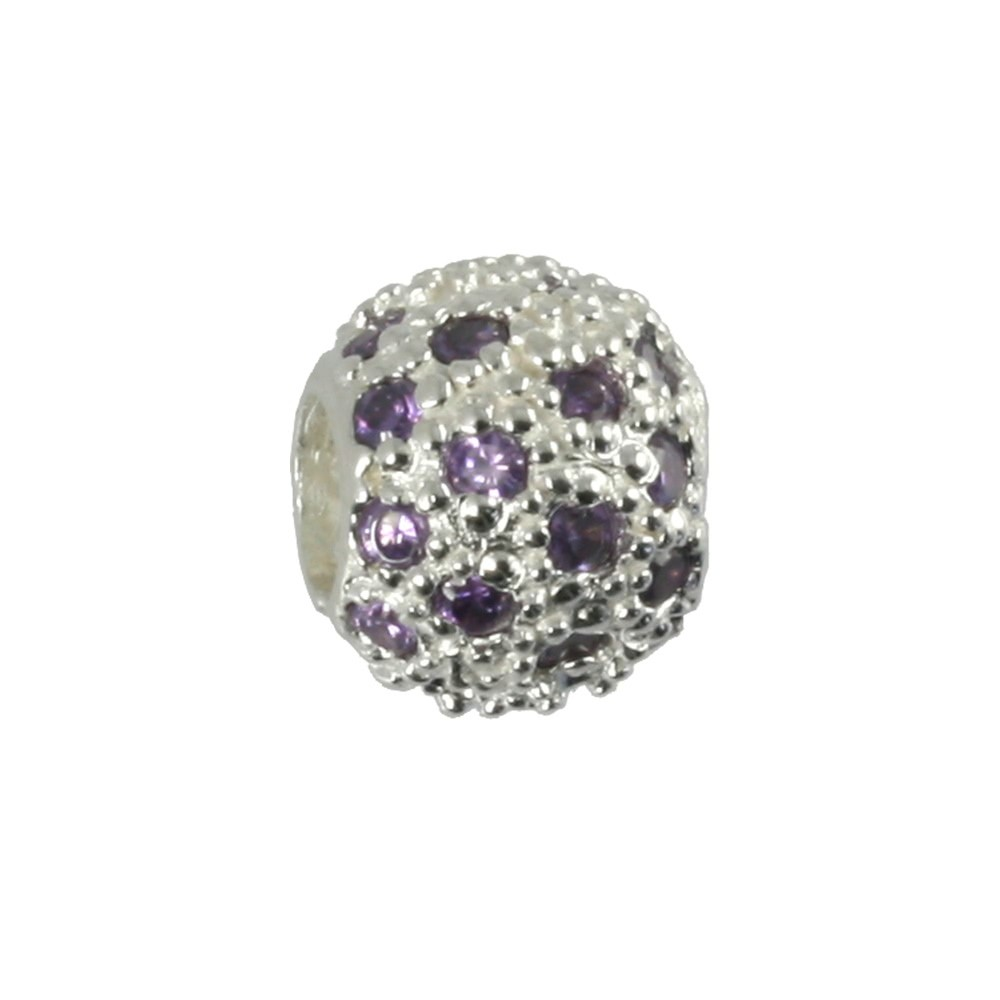 Carlo Biagi Zirkonia Bead Ball European Beads BBSCZP01PR