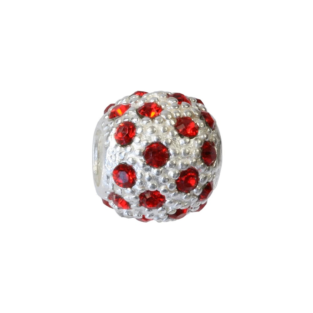 Carlo Biagi Zirkonia Bead Ball European Beads BBSCZP01R