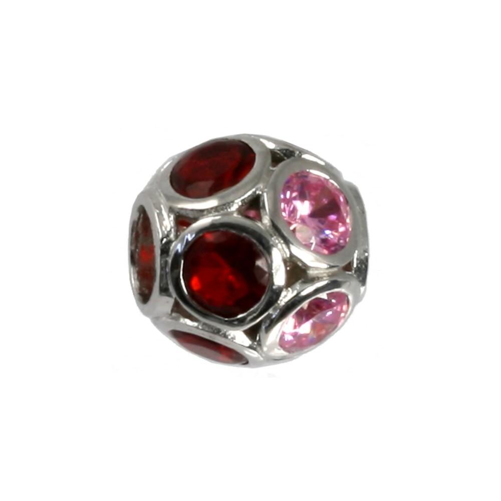 Carlo Biagi Zirkonia 925 Sphäre European Beads BBSCZP04PDR