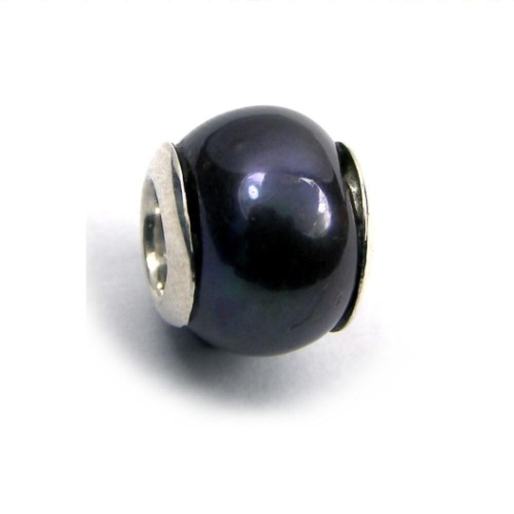 Carlo Biagi Bead Perle schwarz 925 European Beads BBSP03