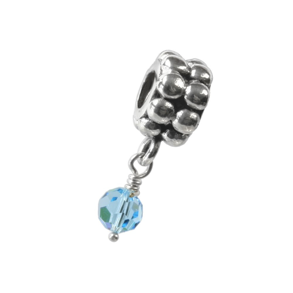 Carlo Biagi Dangle Bead Aqua Silber European Beads BDBB03
