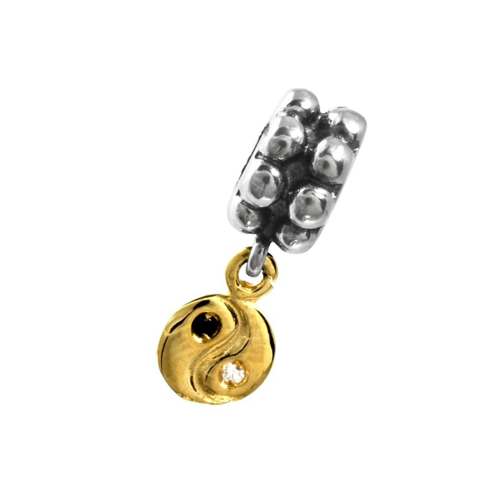 Carlo Biagi Dangle Bead YinYang European Beads BDBG13