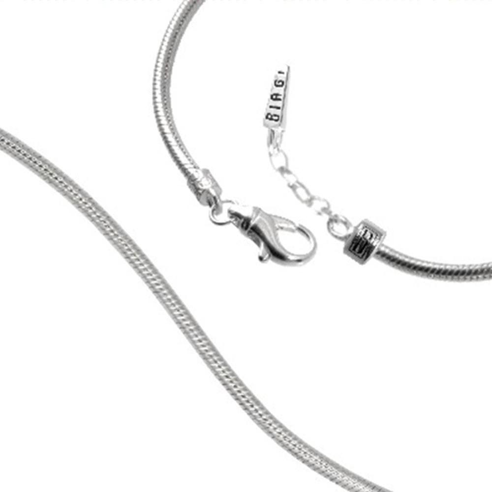 Carlo Biagi 18cm Karabiner Bead Armband Silber mit extra Clip BRLEX18