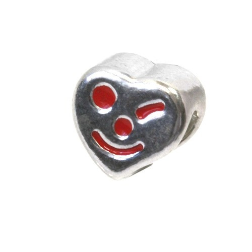 Carlo Biagi Kidz Bead Herz rot 925 Beads für Armband KBE020