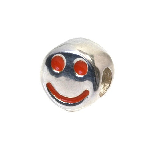 Carlo Biagi Kidz Bead Smiley orange 925 Beads für Armband KBE029