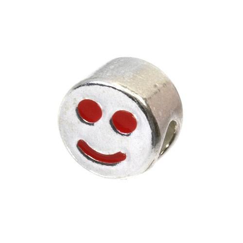 Carlo Biagi Kidz Bead Smiley rot 925 Beads für Armband KBE030