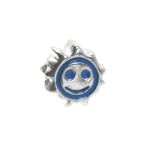 Carlo Biagi Kidz Bead Sonne blau 925 Beads für Armband KBE034