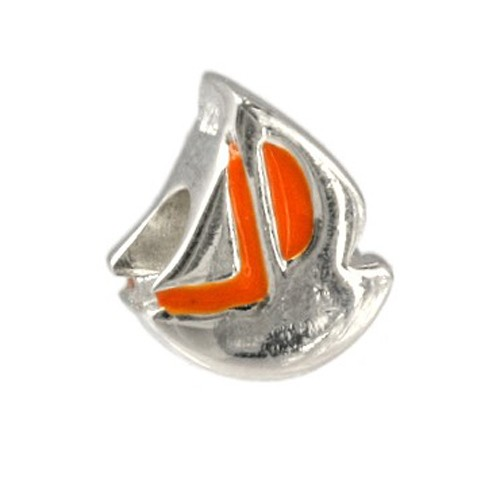 Carlo Biagi Kidz Bead Schiff orange 925 Beads für Armband KBE046