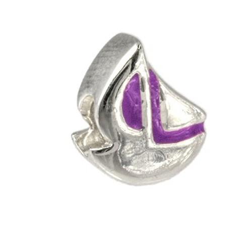 Carlo Biagi Kidz Bead Schiff lila 925 Beads für Armband KBE047