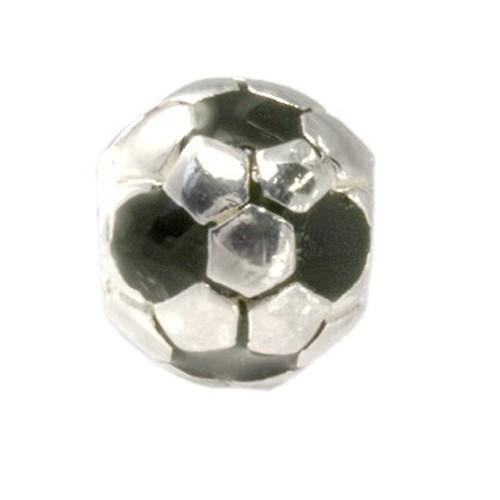 Carlo Biagi Kidz Bead Ball schwarz 925 Beads für Armband KBE055