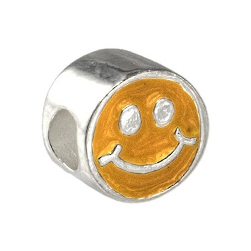 Carlo Biagi Kidz Bead Smiley orange 925 Beads für Armband KBE060