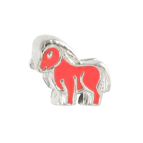 Carlo Biagi Kidz Bead Pony rosa 925 Silber Beads KBE088