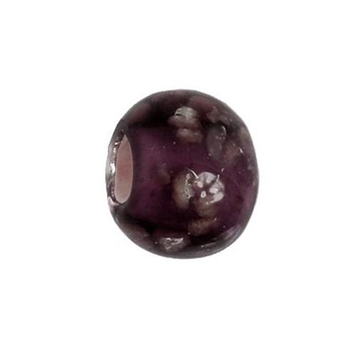 Carlo Biagi Kidz Glas Bead lila *Leuchtet im Dunkel KBGG03PR