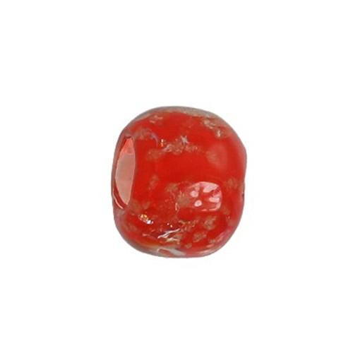 Carlo Biagi Kidz Glas Bead rot *Leuchtet im Dunkel* KBGG05R