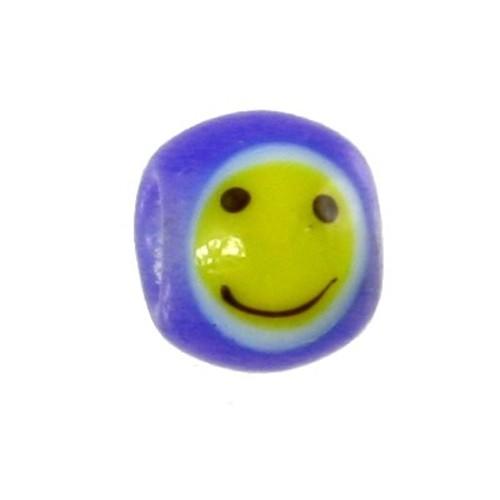 Carlo Biagi Kidz Glas Bead blau mit Smiley KBGS07