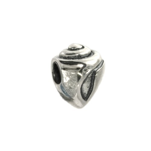 Carlo Biagi Kidz Bead Muschel Silber Beads für Armband KSB08