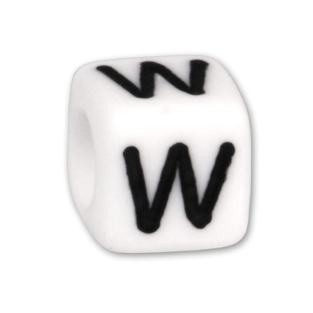 Bead Buchstabe W Beads für Armband KSPPWW
