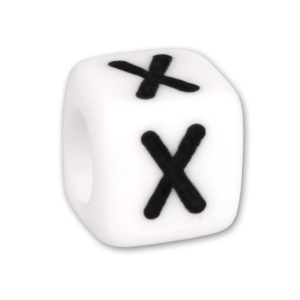 Bead Buchstabe X Beads für Armband KSPPWX