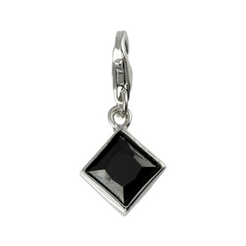 Carlo Biagi Charm Anhänger Diamant 925 Silber CSCZP02B