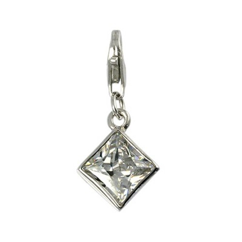 Carlo Biagi Charm Anhänger Diamant 925 Silber CSCZP02C