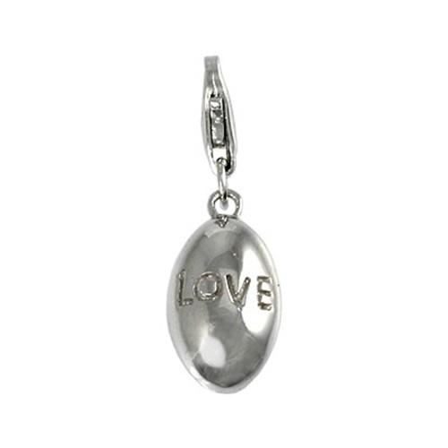 Carlo Biagi Charm Anhänger Oval Love 925 Silber CSS04