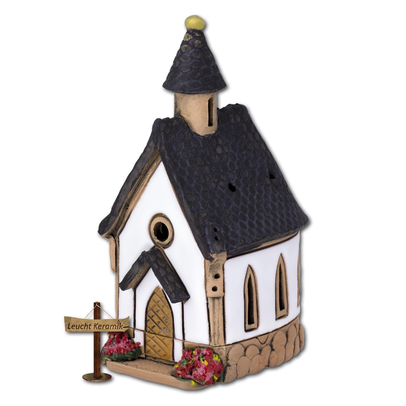 Lichthaus Kapelle weiß original LeuchtKeramik DKH08W