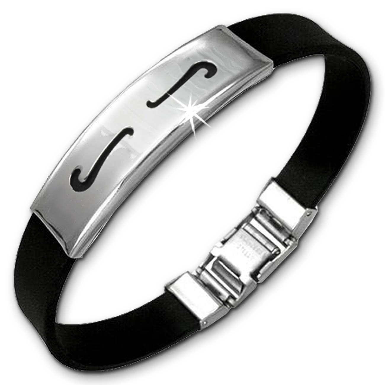 Amello Edelstahlarmband Welle Herren Damen Unisex Armband ESA502S