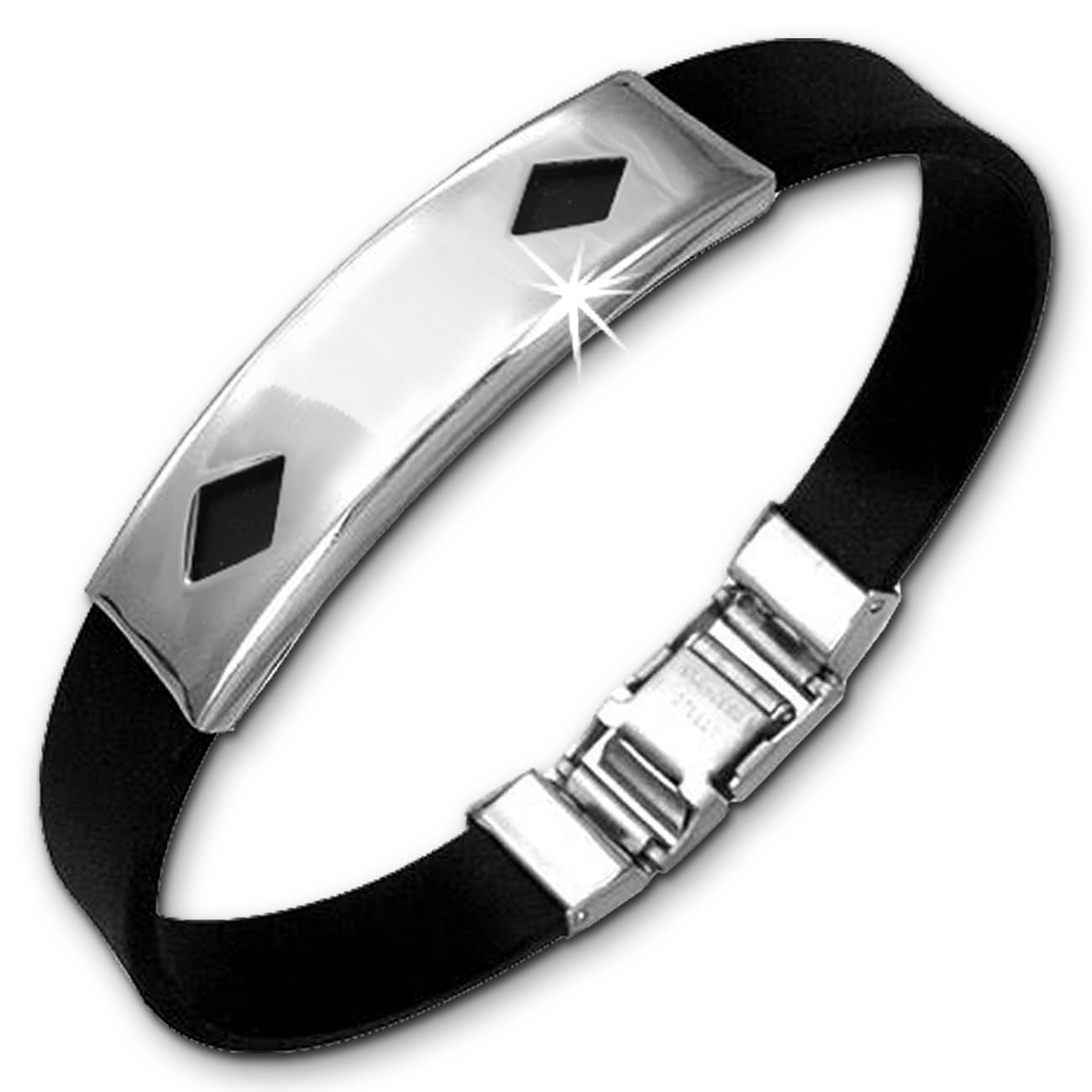 Amello Edelstahlarmband Karo Herren Damen Unisex Armband ESA505S