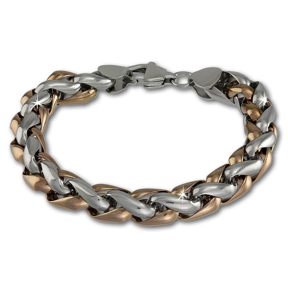 Amello Armband geflochten rosevergoldet Herren Edelstahlschmuck ESAC01E2