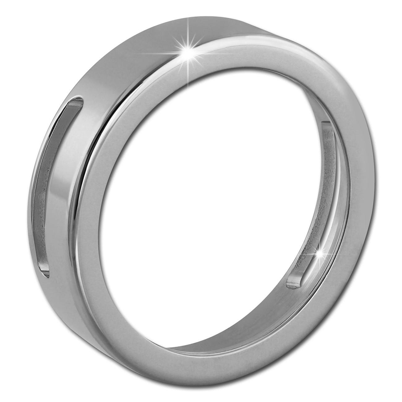 Amello Coinsfassung 30mm für ein Armband glänzend Edelstahlschmuck ESC022J