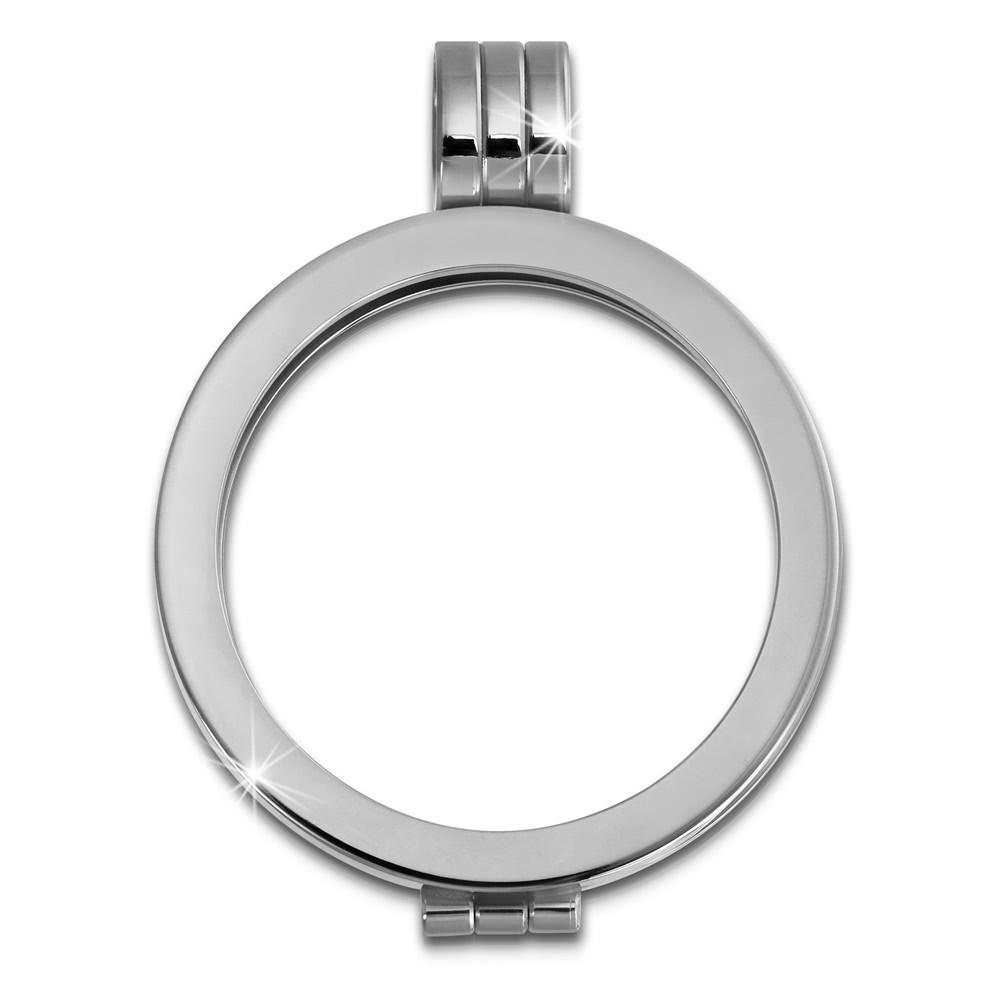 Amello Coinsfassung 25mm Kettenanhänger glänzend Edelstahlschmuck ESC050J