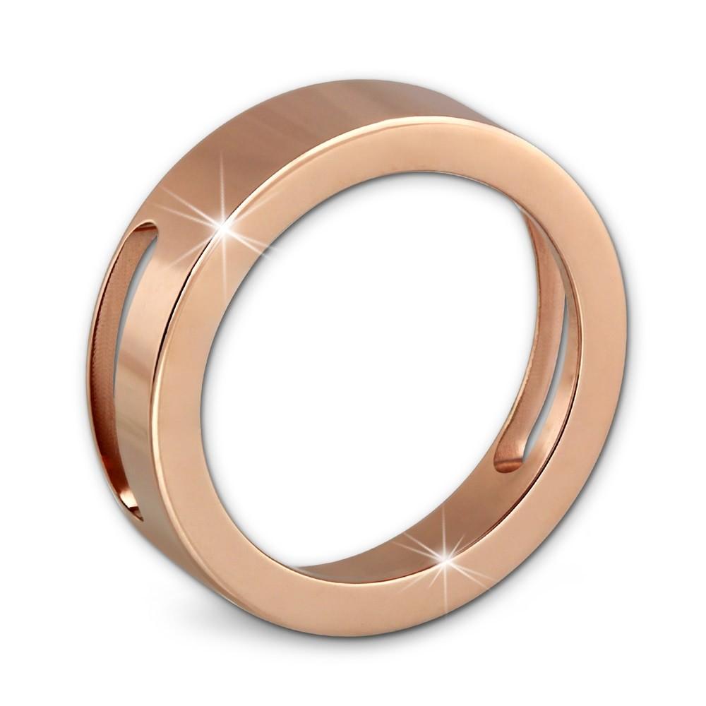 Amello Coinsfassung 25mm Edelstahl rosegold für Armband Stahlschmuck ESC080E