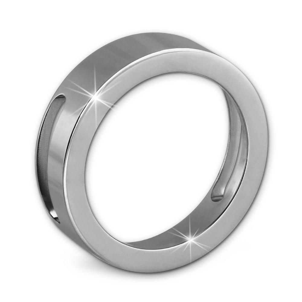 Amello Coinsfassung 25mm Edelstahl glanz für Armband Stahlschmuck ESC080J