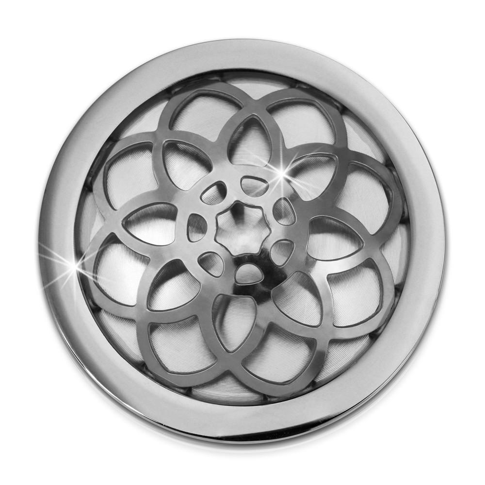 Amello Edelstahl Coin Blume 25mm für Coinsfassung Edelstahlschmuck ESC630J