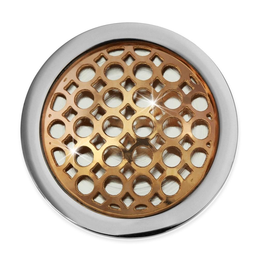 Amello Edelstahl Coin Kreise rose 25mm für Coinsfassung Stahlschmuck ESC632E