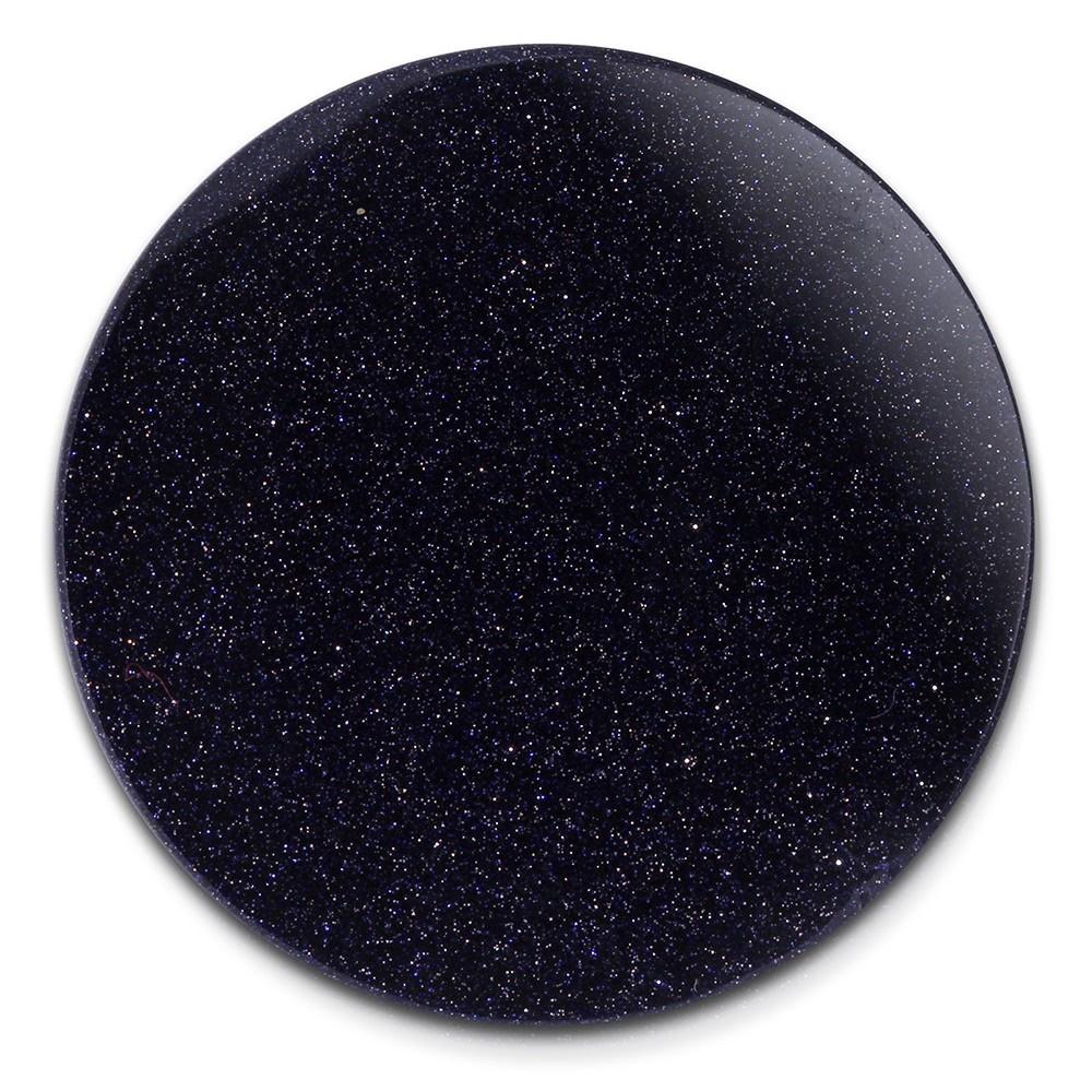 Amello Coin Acryl Glitzer 30mm dunkelblau für Coinsfassung Schmuck ESC701B