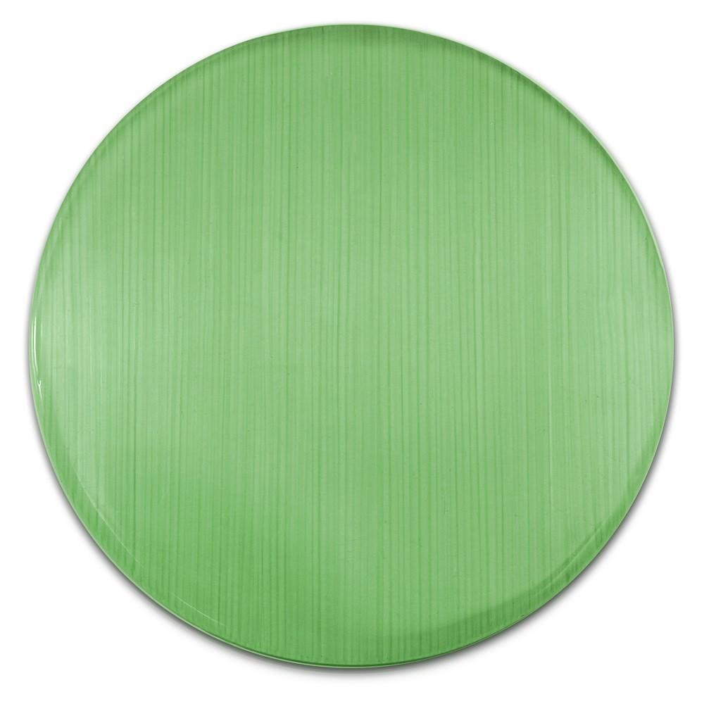 Amello Coin Cateye Glas 30mm grün für Coinsfassung Edelstahlschmuck ESC707G